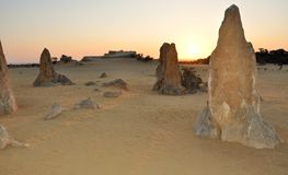 Pinnacle Desert at Sunset, Western Australia Royalty Free Stock Images