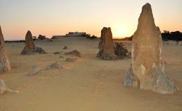 Pinnacle Desert at Sunset, Western Australia royalty free stock images