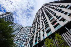 The Pinnacle Duxton, it is a group of tall buildings for living. Stock Photo