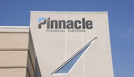 Pinnacle Financial Partners Sign stock image