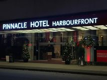 Pinnacle Hotel Harbourfront, Vancouver, British Columbia stock photo