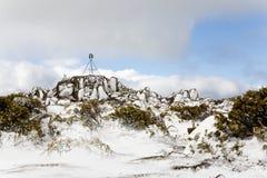 Pinnacle of Mount Wellington, Tasmania. The highest point at Mount Wellington, Tasmania, in winter with snow royalty free stock photography