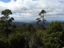 Pinnacle Road to Mount Wellington, Hobart, Tasmania. View from Pinnacle Road on the way to Mount Wellington, Hobart, Tasmania, Australia Royalty Free Stock Photo