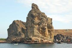 Pinnacle Rock. A distinctive formation in Bartolomé Island - Galapagos Archipelago -  Ecuador Royalty Free Stock Image