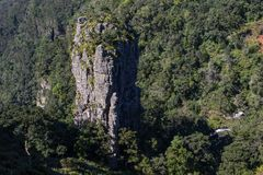 Pinnacle Rock in Mpumalanga South Africa. The Pinnacle Rock in the Blyde River Canyon near the town of Graskop in the Mpumalanga Province of South Africa Royalty Free Stock Photo