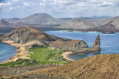 Pinnacle Rock, Galapagos Islands Landscape. Pinnacle Rock, Galapagos Islands volcanic rock mountains and sea landscape royalty free stock image