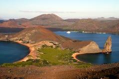 Pinnacle Rock Galapagos. Pinnacle Rock at Sullivan Bay, Bartolome Island, Galapagos Royalty Free Stock Image