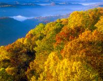 Pinnacle Rock State Park. In West Virginia at sunrise Royalty Free Stock Image