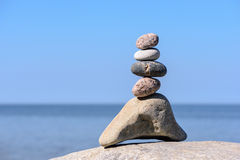 Pinnacle of stones Royalty Free Stock Photography