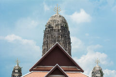 Pinnacle of temple in area Wat Royalty Free Stock Photo
