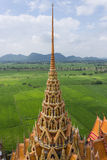Pinnacle of the temple. Tham Suea Temple Kanchanaburi Thailand Stock Image