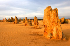 The Pinnacles. Desert in the heart of the Nambung National Park, Western Australia Royalty Free Stock Image