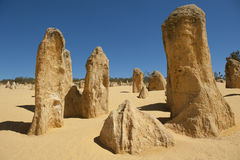 Pinnacles. Some of the magnificient Pinnacles in the Nambung National Park in Western Australia Royalty Free Stock Image