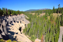 Pinnacles. In Crater Lake Oregon Stock Image