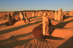 The Pinnacles. Are limestone formations contained within Nambung National Park, near the town of Cervantes, Western Australia Stock Photo