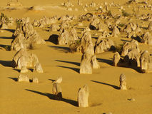 Pinnacles. In desert landscape stock photos