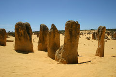 The Pinnacles Australia Royalty Free Stock Images