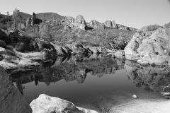 Pinnacles Bear Gulch Reservoir Royalty Free Stock Image