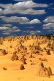 Pinnacles Desert. Natural limestone formations commonly known as the Pinnacles,Nambung National Park,Western Australia Royalty Free Stock Photos