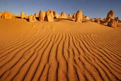 Pinnacles desert. In Western Australia Stock Photos