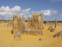 Pinnacles desert. Beauty of rock formations in Pinnacle desert. Nambung National Park, Pinnacles desert, Western Australia royalty free stock photography
