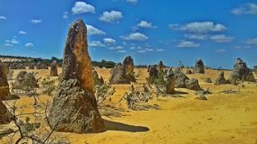 The Pinnacles Desert, Australia. The Pinnacles Desert is located in Western Australia, near the city of Perth stock photography