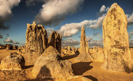 Pinnacles Desert in Australia. Pinnacles Desert at Nambung National Park in Australia Royalty Free Stock Photos