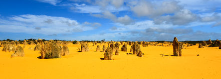 Pinnacles Desert, Australia. The Pinnacles in the Nambung National Park, Western Australia. The Pinnacles are limestone formations contained within Nambung Royalty Free Stock Photo