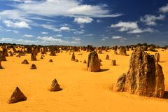 Pinnacles Desert, Australia Royalty Free Stock Images