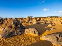 Pinnacles desert Australia Royalty Free Stock Photos