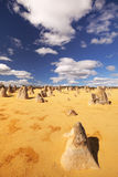 The Pinnacles Desert in Nambung National Park, Australia. The Pinnacles Desert in the Nambung National Park, Western Australia Royalty Free Stock Photo
