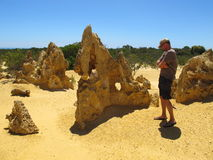 Pinnacles Desert, Nambung National Park, West Australia Royalty Free Stock Images