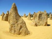 Pinnacles Desert, Nambung National Park, West Australia Royalty Free Stock Photography