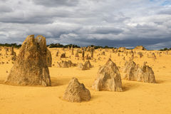 Pinnacles Desert in the Nambung National Park Royalty Free Stock Image