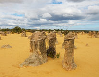 Pinnacles Desert in the Nambung National Park Royalty Free Stock Photography