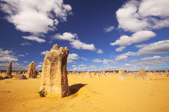 The Pinnacles Desert in Nambung NP, Western Australia Royalty Free Stock Image