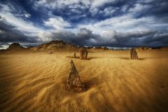 Pinnacles at the Pinnacles desert royalty free stock images
