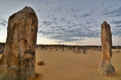 Pinnacles desert at sunrise. Nambung national park. Cervantes. Western Australia. Australia Stock Image