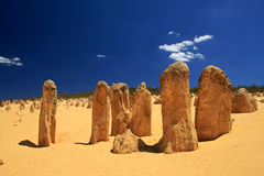 Pinnacles Desert,Western Australia. Natural limestone formations commonly known as the Pinnacles,Nambung National Park,Western Australia Stock Image