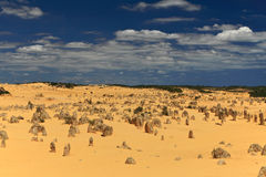 Pinnacles Desert,Western Australia. Natural limestone formations commonly known as the Pinnacles,Nambung National Park,Western Australia Stock Images