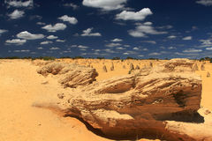 Pinnacles Desert,Western Australia. Natural limestone formations commonly known as the Pinnacles,Nambung National Park,Western Australia Royalty Free Stock Photo