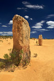 Pinnacles Desert,Western Australia. Natural limestone formations commonly known as the Pinnacles,Nambung National Park, Western Australia Royalty Free Stock Image