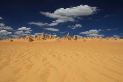 Pinnacles Desert,Western Australia. Limestone pillars in Nambung National Park South Western Australia Stock Image