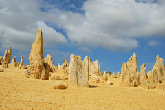 Pinnacles desert. The pinnacles desert in Western Australia Royalty Free Stock Photo