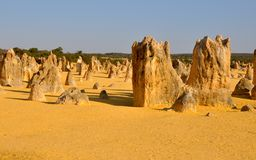 Pinnacles Desert in Western Australia Royalty Free Stock Photography