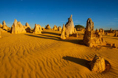 Pinnacles Desert, Western Australia. Lunar lanscape of the Pinnacles Desert at Nambung National Park, Western Australia, Australia Stock Photography