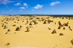 Pinnacles desert in Western Australia Royalty Free Stock Images