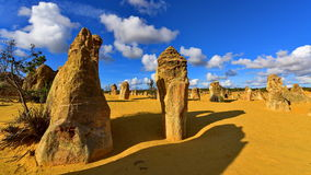 The Pinnacles Dessert famous for its limestone rock formations Stock Photos