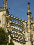 Pinnacles and flying buttresses. Gothiv cathedral in Kutna Hora, Chechs stock photo