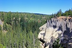 Pinnacles, geological feature in Crater Lake National Park, Oregon. USA royalty free stock photo